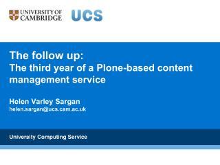 University Computing Service
