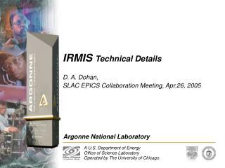 IRMIS  Technical Details