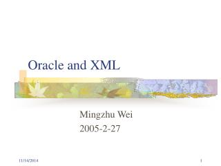 Oracle and XML