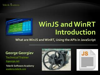 WinJS  and WinRT Introduction