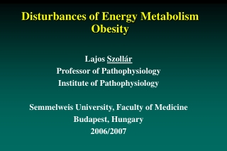Obesity Problems in Nutrition in Germany