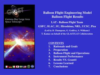 Balloon Flight Engineering Model Balloon Flight Results