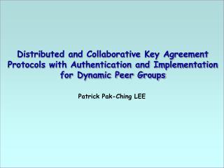 Patrick Pak-Ching LEE
