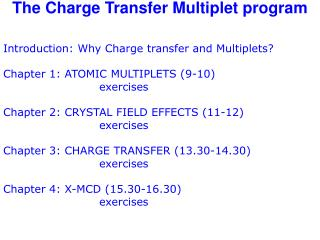 The Charge Transfer Multiplet program
