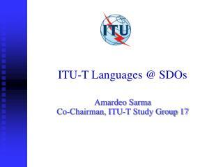ITU-T Languages @ SDOs