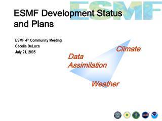 ESMF Development Status  and Plans