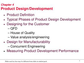 Chapter 4 Product Design/Development