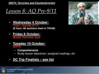 Lesson 8: AQ Pre-9/11