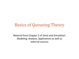 Basics of Queueing Theory