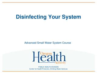 Disinfecting Your System