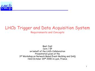 LHCb Trigger and Data Acquisition System Requirements and Concepts