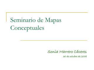 Seminario de Mapas Conceptuales