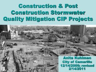 Construction & Post Construction Stormwater Quality Mitigation CIP Projects