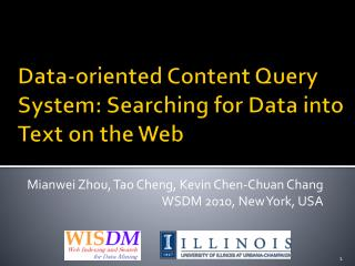 Data-oriented Content Query System: Searching for Data into Text on the Web