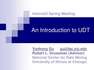 An Introduction to UDT