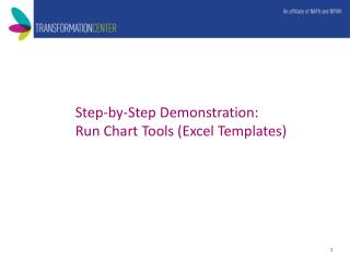 Step-by-Step Demonstration:  Run Chart Tools (Excel Templates)