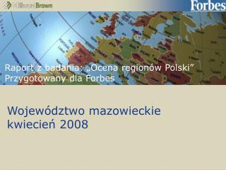 Województwo mazowieckie kwiecień 2008