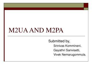 M2UA AND M2PA
