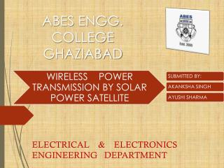ELECTRICAL    &    ELECTRONICS ENGINEERING   DEPARTMENT