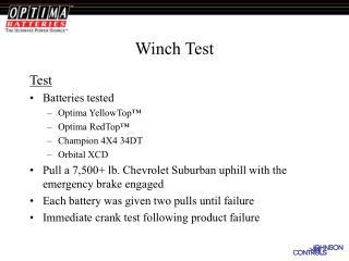 Winch Test