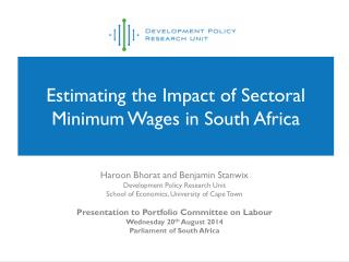 Estimating the Impact of Sectoral Minimum Wages in South Africa