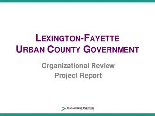 Lexington-Fayette  Urban County Government