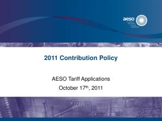 2011 Contribution Policy