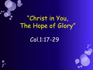 Col.1:17-29