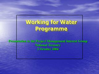 Working for Water Programme