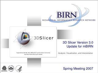 3D Slicer Version 3.0 Update for mBIRN