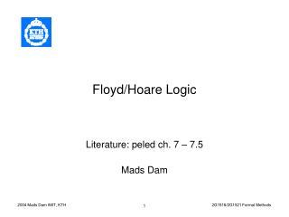 Floyd/Hoare Logic