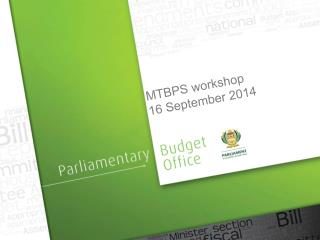 MTBPS workshop 16 September 2014