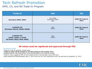 Tech Refresh Promotion