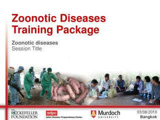 Zoonotic Diseases Training Package