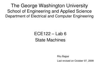 ECE122 – Lab 6 State Machines