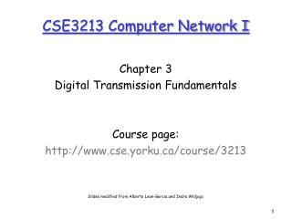 CSE3213 Computer Network I
