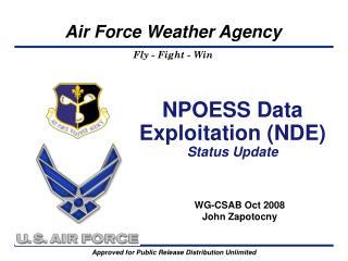 NPOESS Data Exploitation (NDE) Status Update