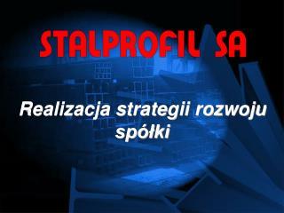 Realizacja strategii rozwoju spółki