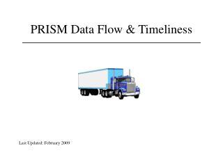 PRISM Data Flow & Timeliness