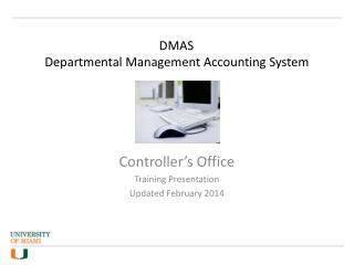 DMAS	 Departmental Management Accounting System
