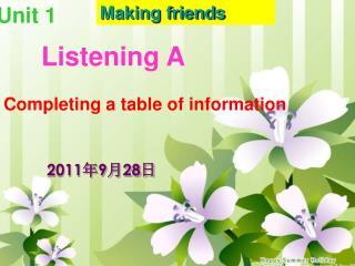 Listening A