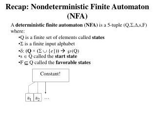 Recap: Nondeterministic Finite  Automaton  (NFA)