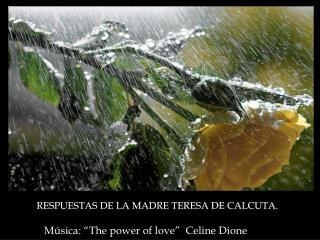 "Música: ""The power of love""  Celine Dione"