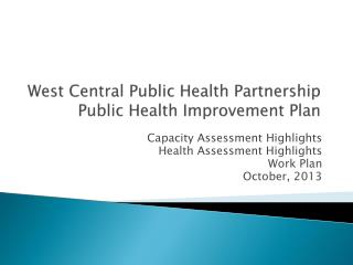 West Central Public Health Partnership  Public Health Improvement Plan