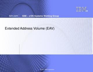 Extended Address Volume (EAV)