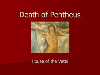 Death of Pentheus