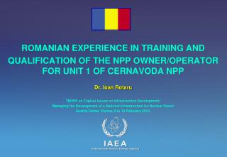 ROMANIAN EXPERIENCE IN TRAINING AND
