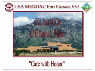 USA MEDDAC Fort Carson, CO