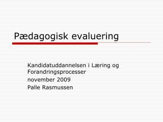 Pædagogisk evaluering