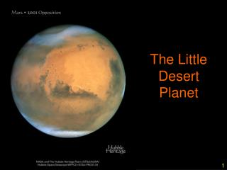 The Little Desert Planet